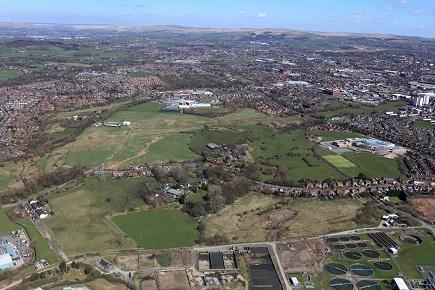 Oldham wwtw aerial shot